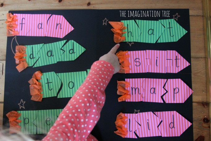 Rocket spelling puzzle game