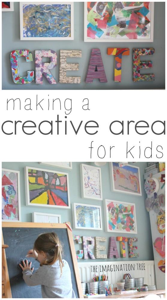 Set up a creative arts area for kids