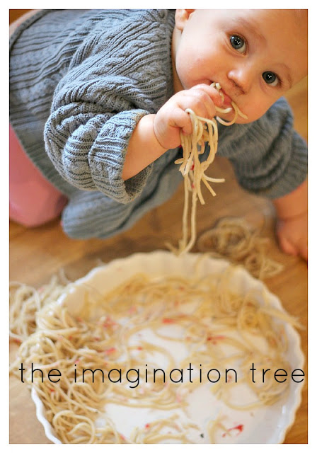 baby+eating+spaghetti
