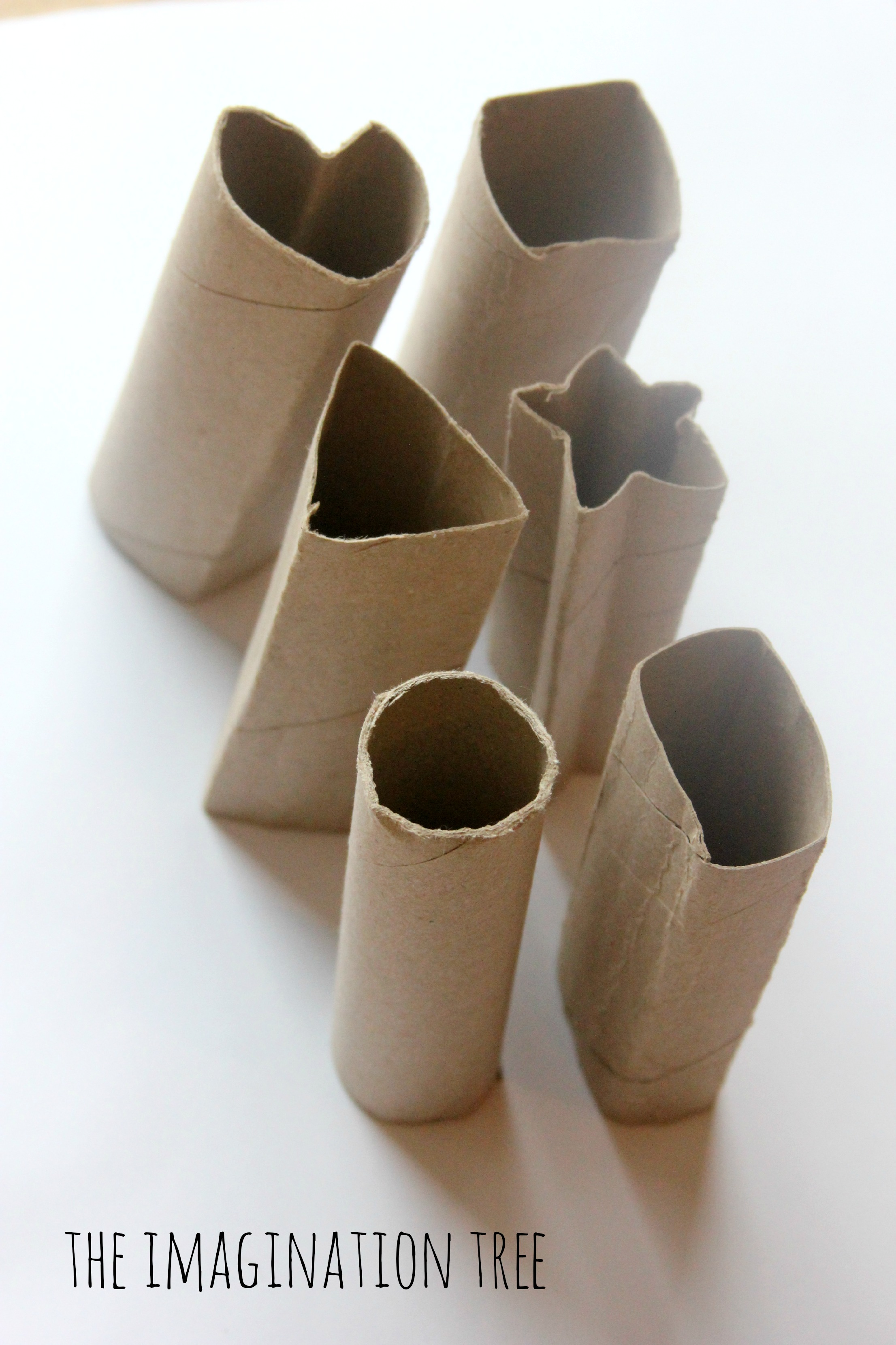 Printing with cardboard shape tubes the imagination tree