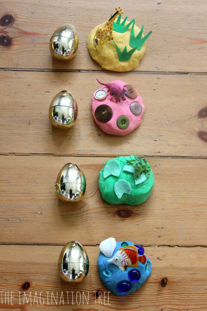 How to make DIY play dough surprise eggs