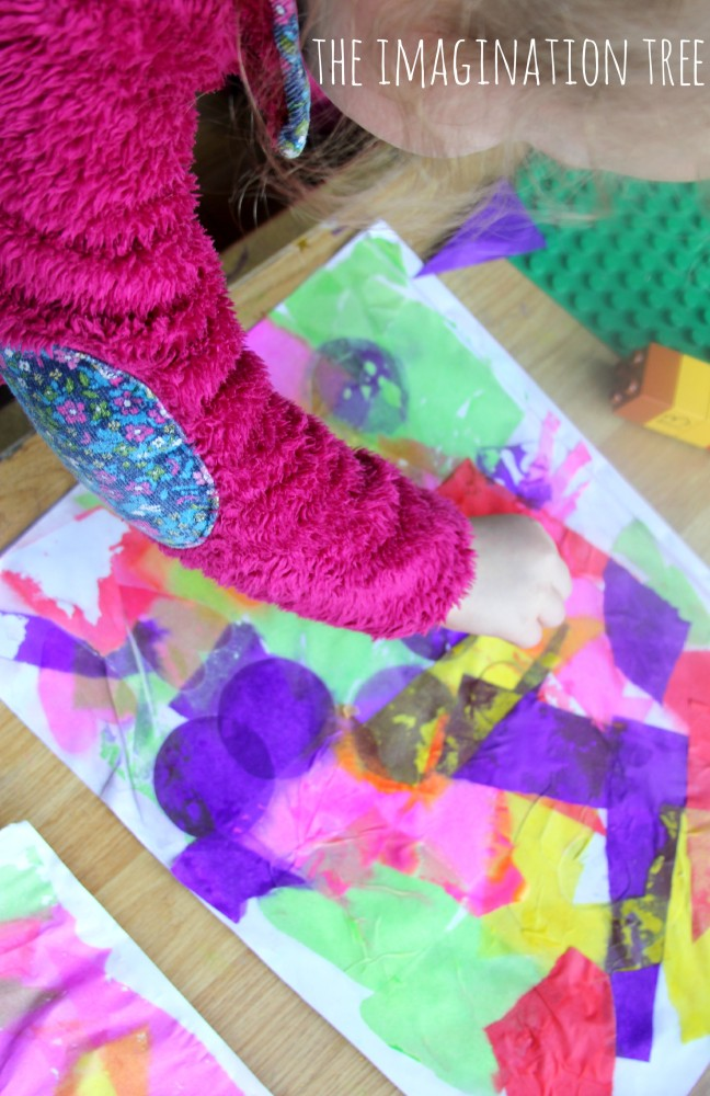 How to make bleeding tissue paper art