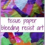 Tissue Paper Bleeding Resist Art