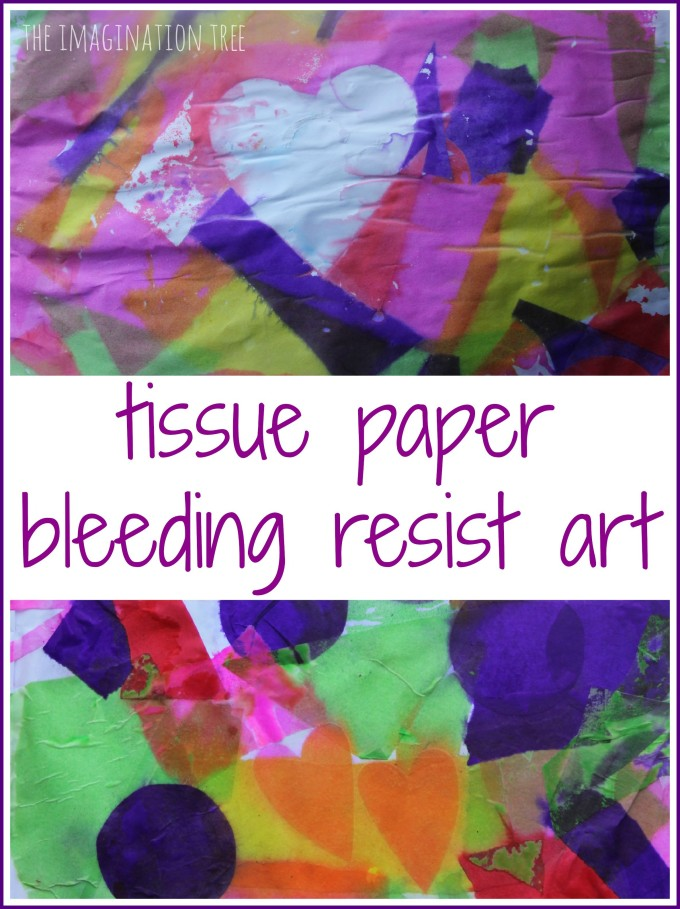 How to make bleeding tissue paper resist art