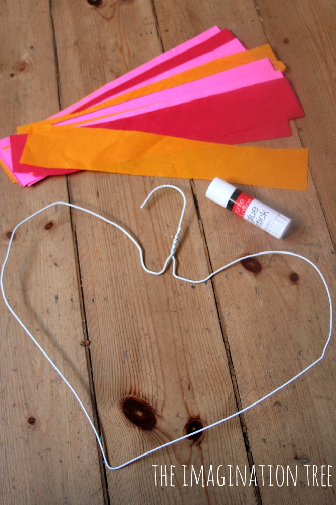 How to make heart shaped sun catchers with coat hangers