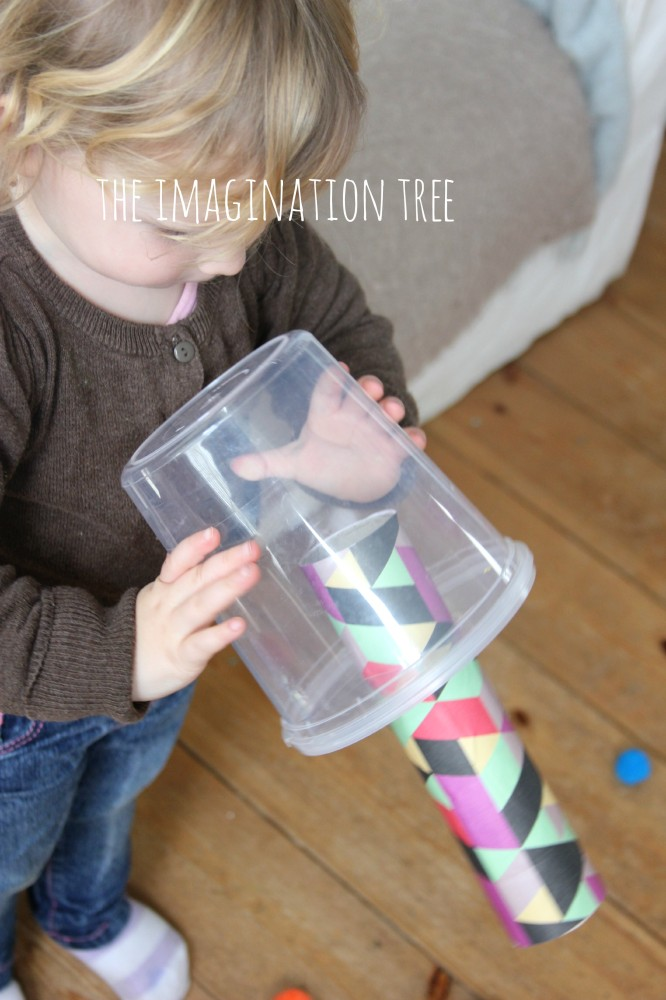 Pom pom shooter toddler activity