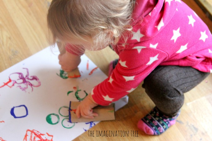 Toddler shape printing activity