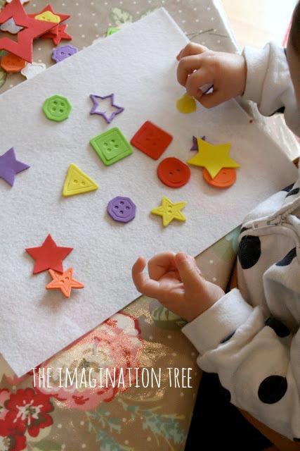 Baby's first sticker collage