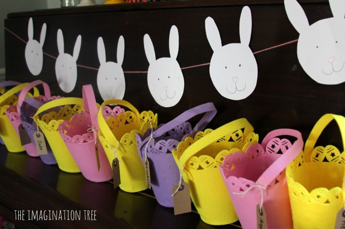 Bunny themed party favours