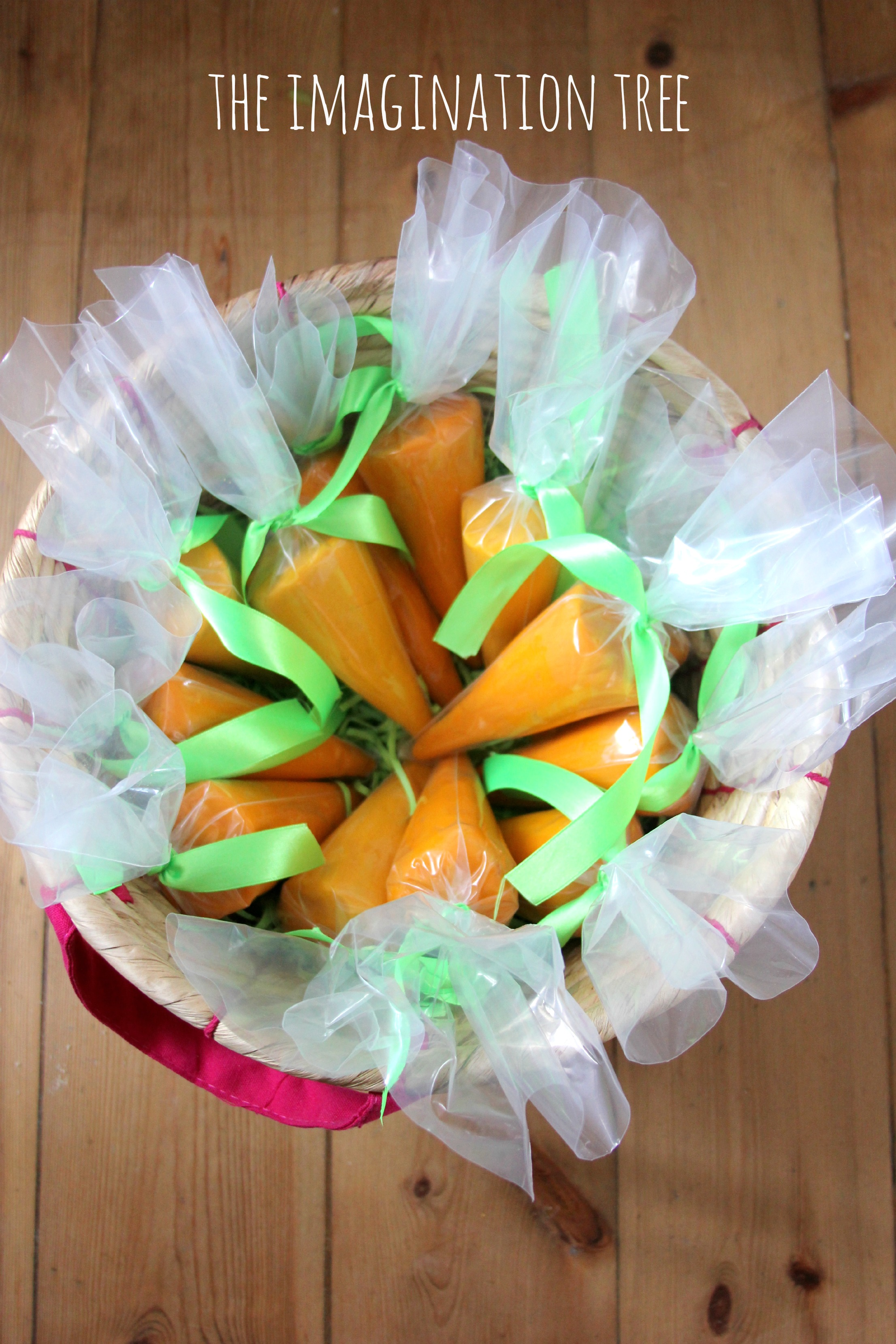 Carrot play dough party favours the imagination tree carrot play dough easter gifts negle Image collections