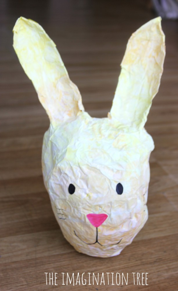 Foil and tissue paper bunny piñata