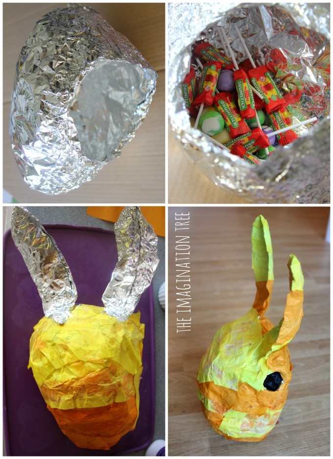 How to make a foil and tissue paper piñata