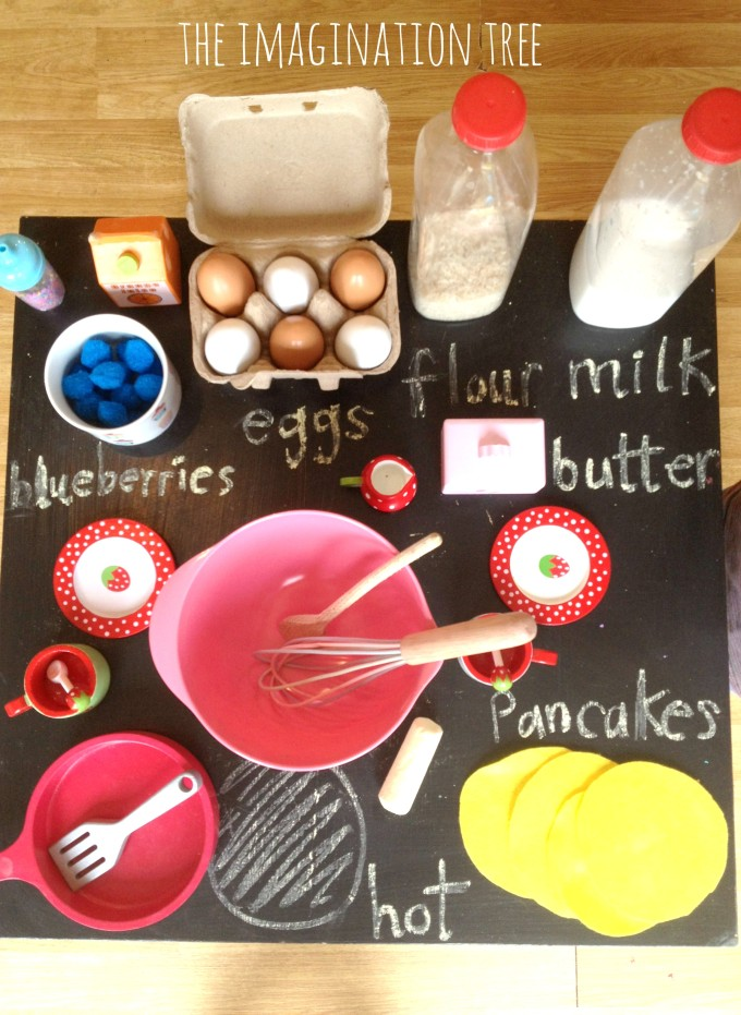 Pancake making imaginative role play area