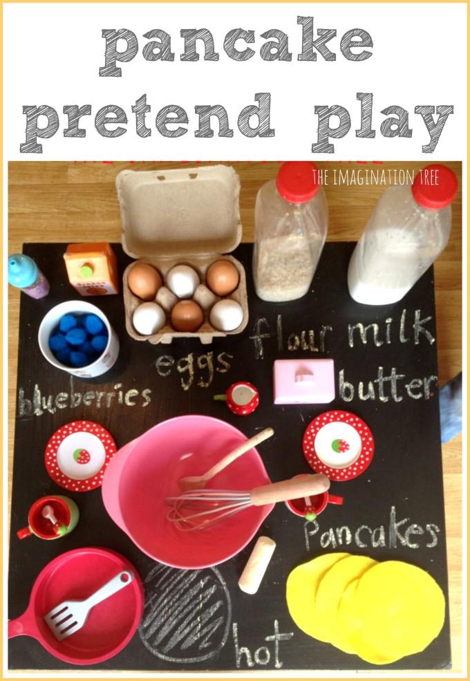 Pancake making pretend play activity