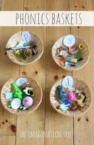 Phonics baskets literacy play game