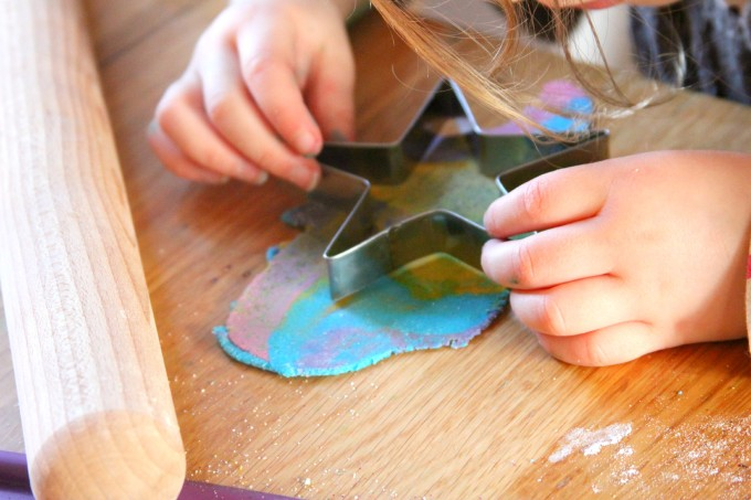 Rainbow Glitter Salt Dough - The Imagination Tree