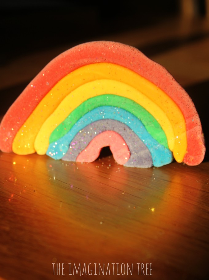 Salt dough rainbow