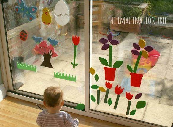 Spring foam window pictures