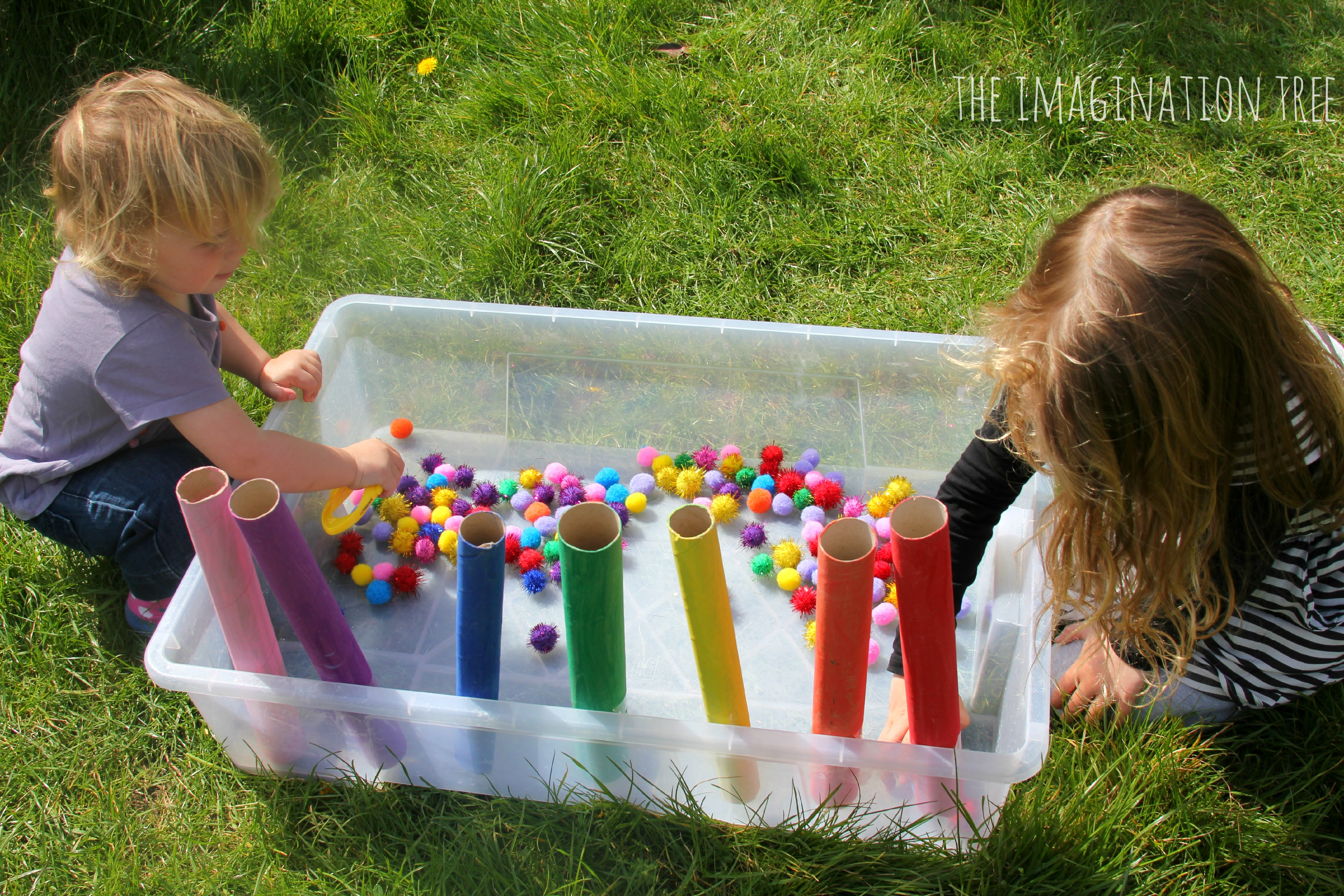 Colour Sorting Pom Pom Drop Game - The Imagination Tree