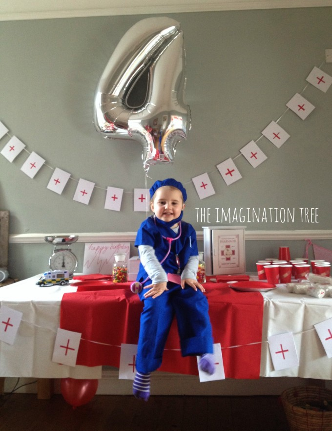 Doctor themed birthday party details