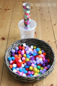 Pom-pom-drop-and-shoot-game-for-toddlers-666x1000