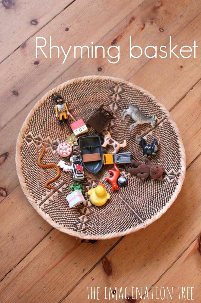 Rhyming Pairs Basket Literacy Game The Imagination Tree