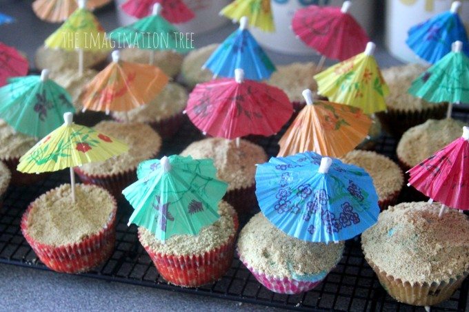 Beach themed cupcake recipe
