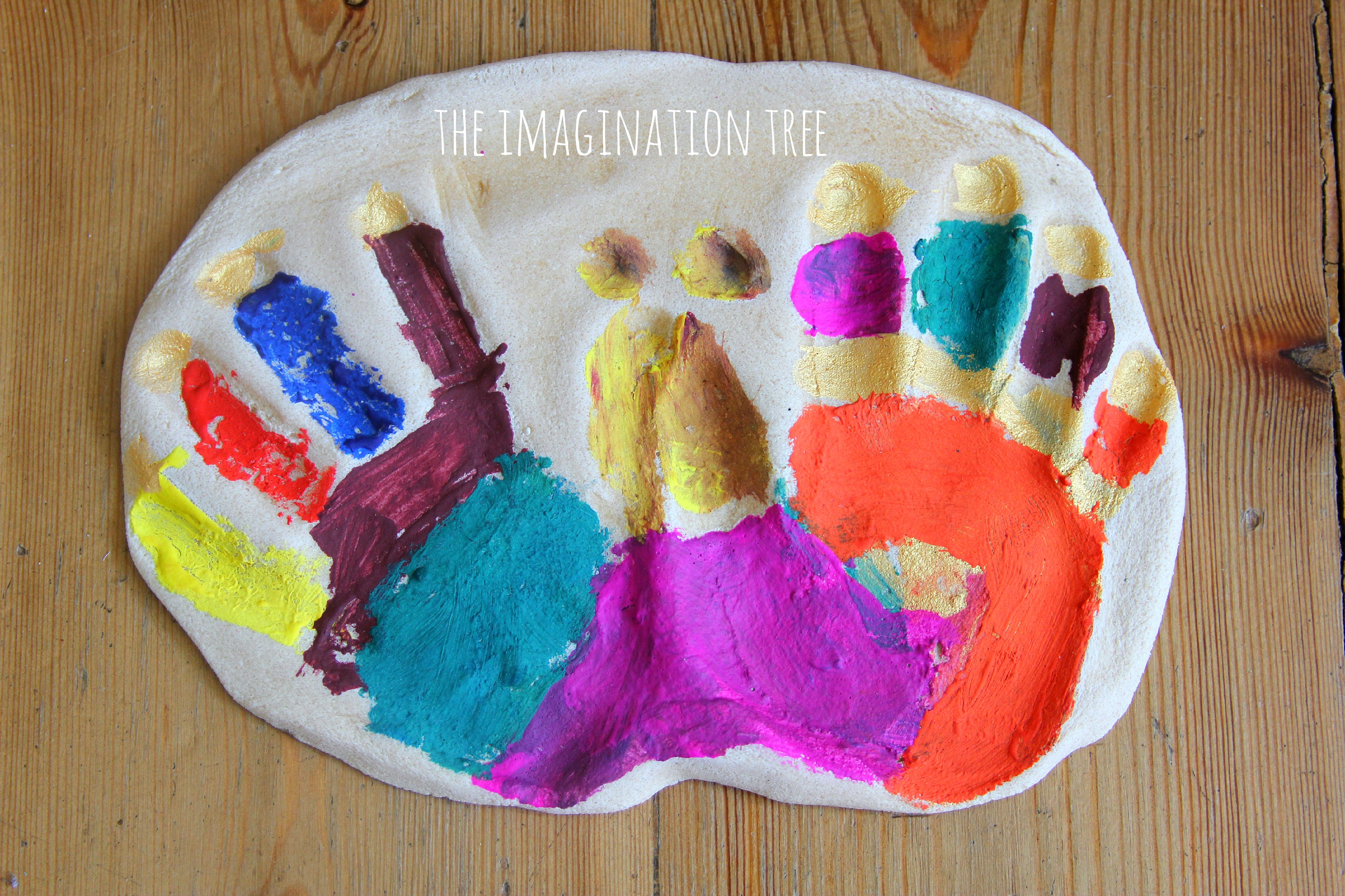 how to make handprints without paint
