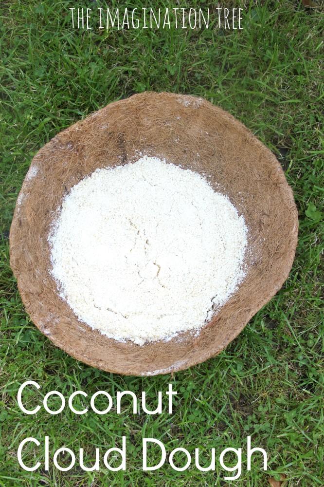 Coconut cloud dough