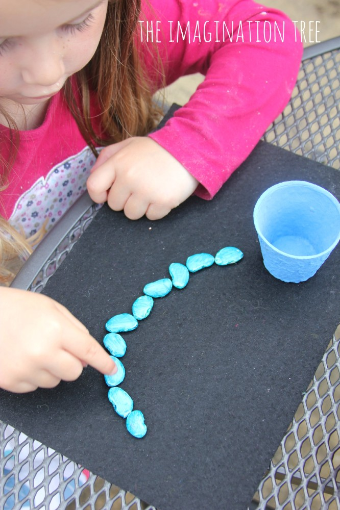 Coloured beans counting activity