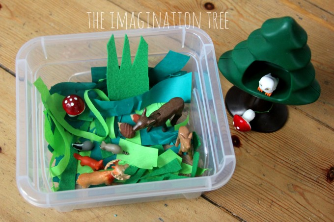 Forest habitat- mini sensory tub