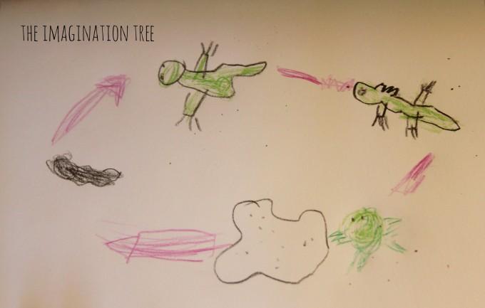 Frog life cycle drawing