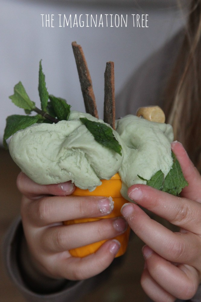Mint play dough recipe