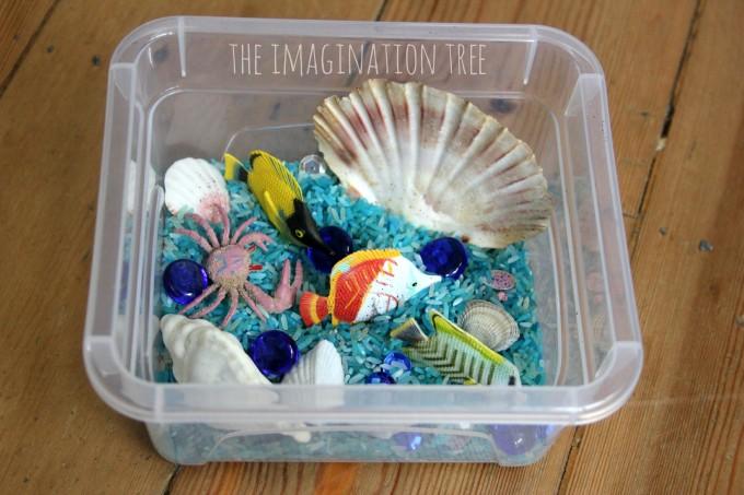 Ocean habitat- mini sensory tub