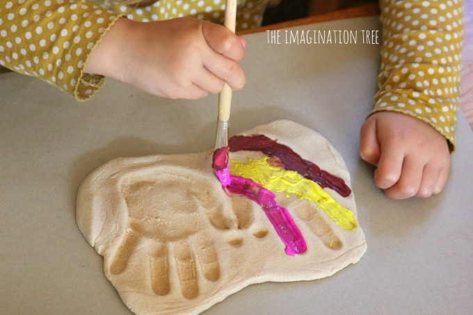 Salt dough butterfly handprint craft