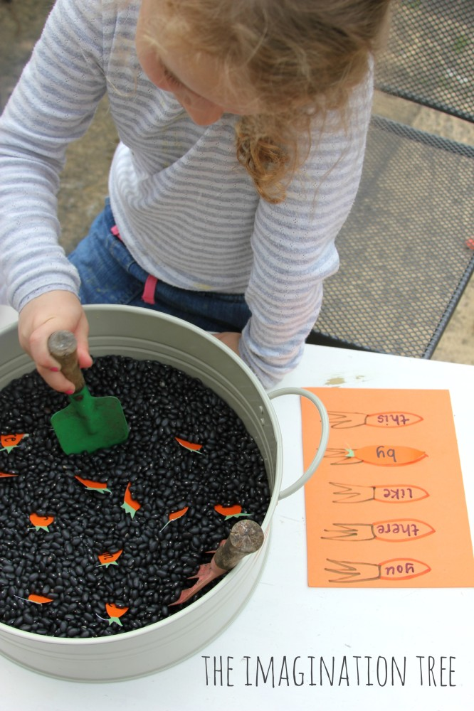 Sight word gardening literacy game