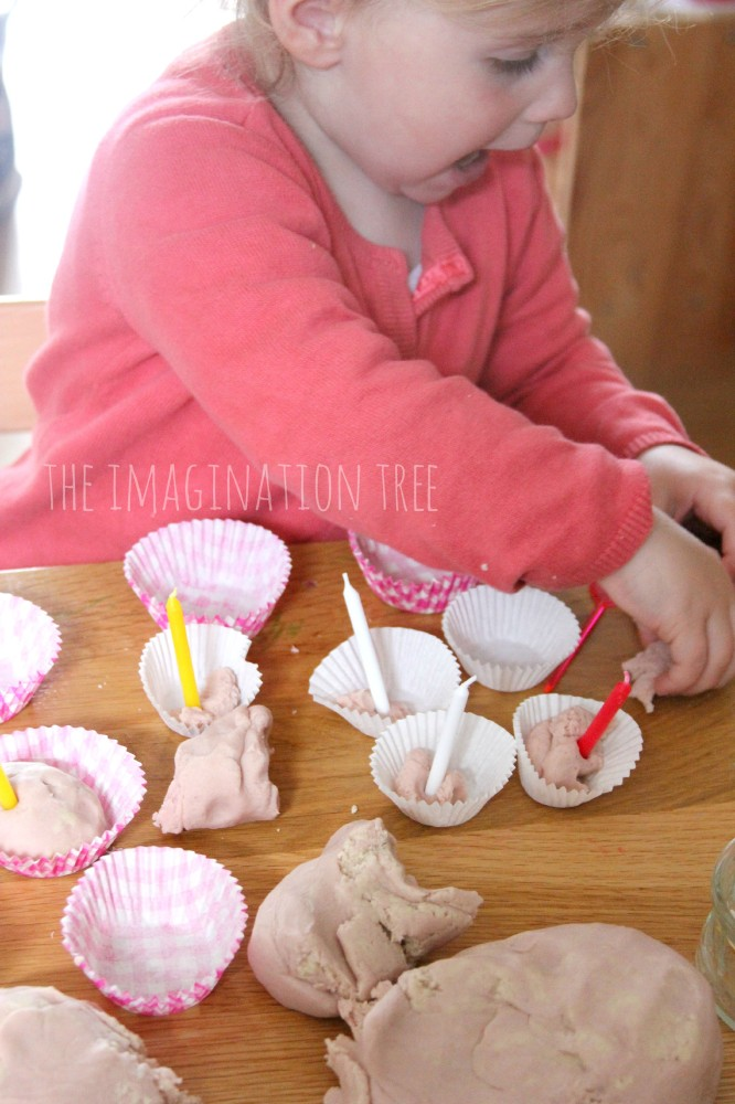 Strawberry and cream scented play dough recipe