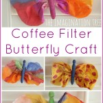 Coffee filter and clothes peg butterfly craft