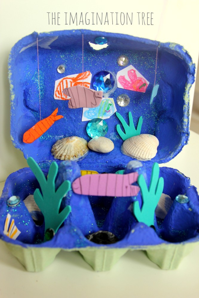Egg carton under the sea craft