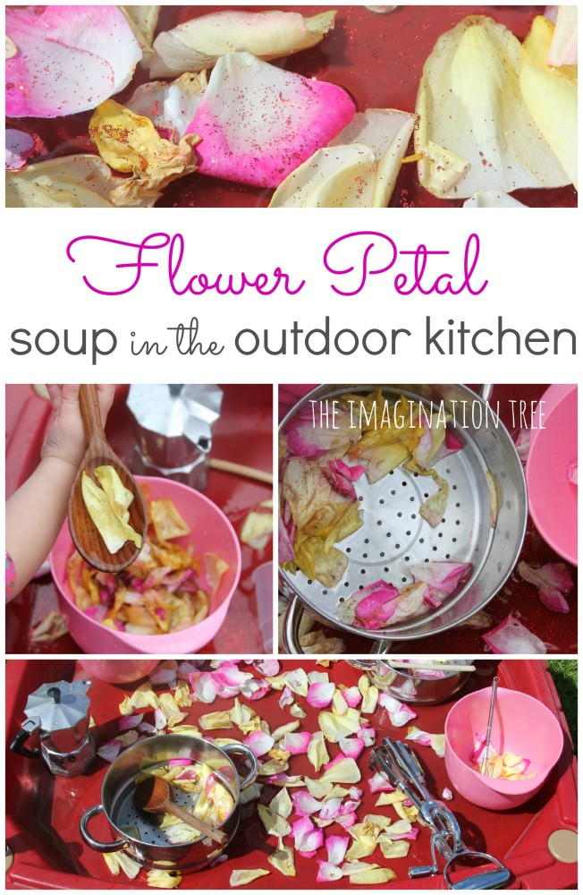 Flower Petal Soup in the Outdoor Kitchen