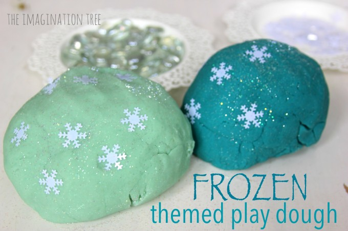 Frozen themed play dough