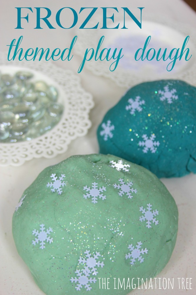 Frozen themed play dough activity for kids