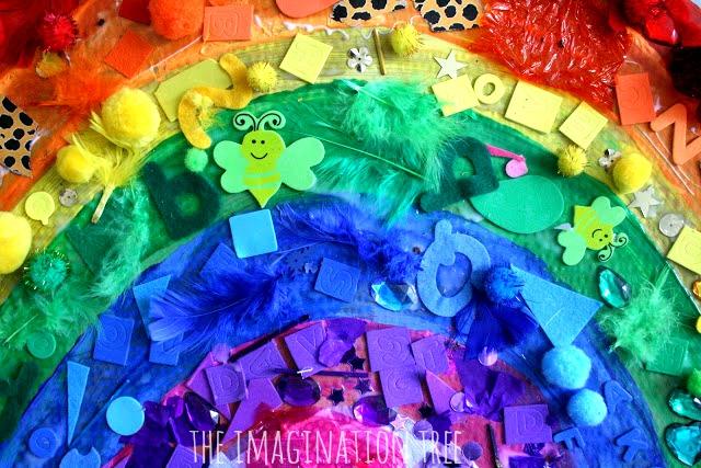 Giant rainbow collage