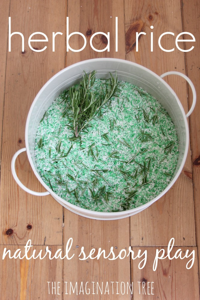 Herbal rice for natural sensory play