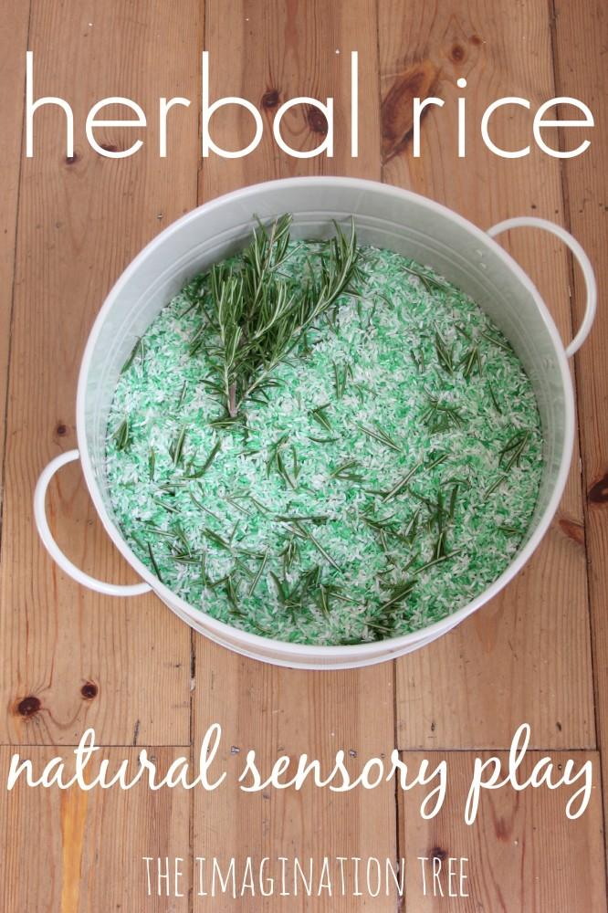 Herbal rice for natural sensory play