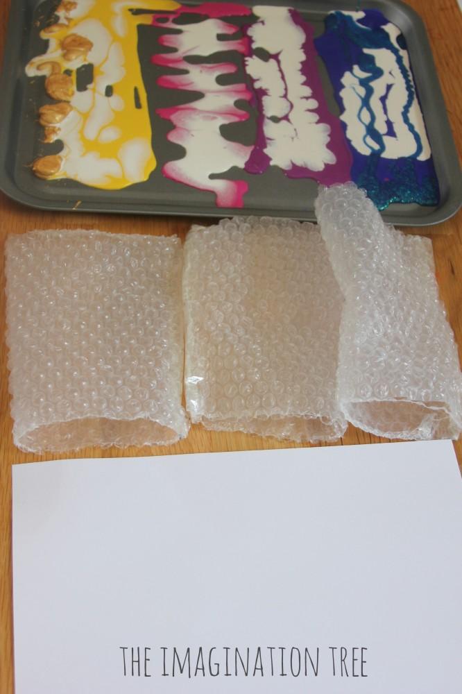 Invitation to print bubble wrap fish