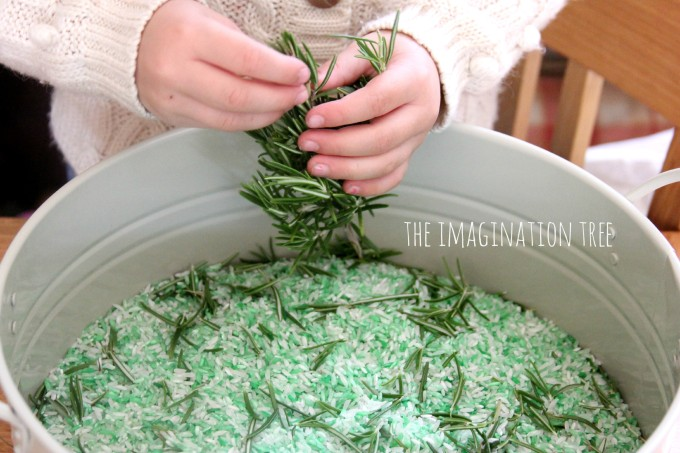 Natural sensory rice with added herbs