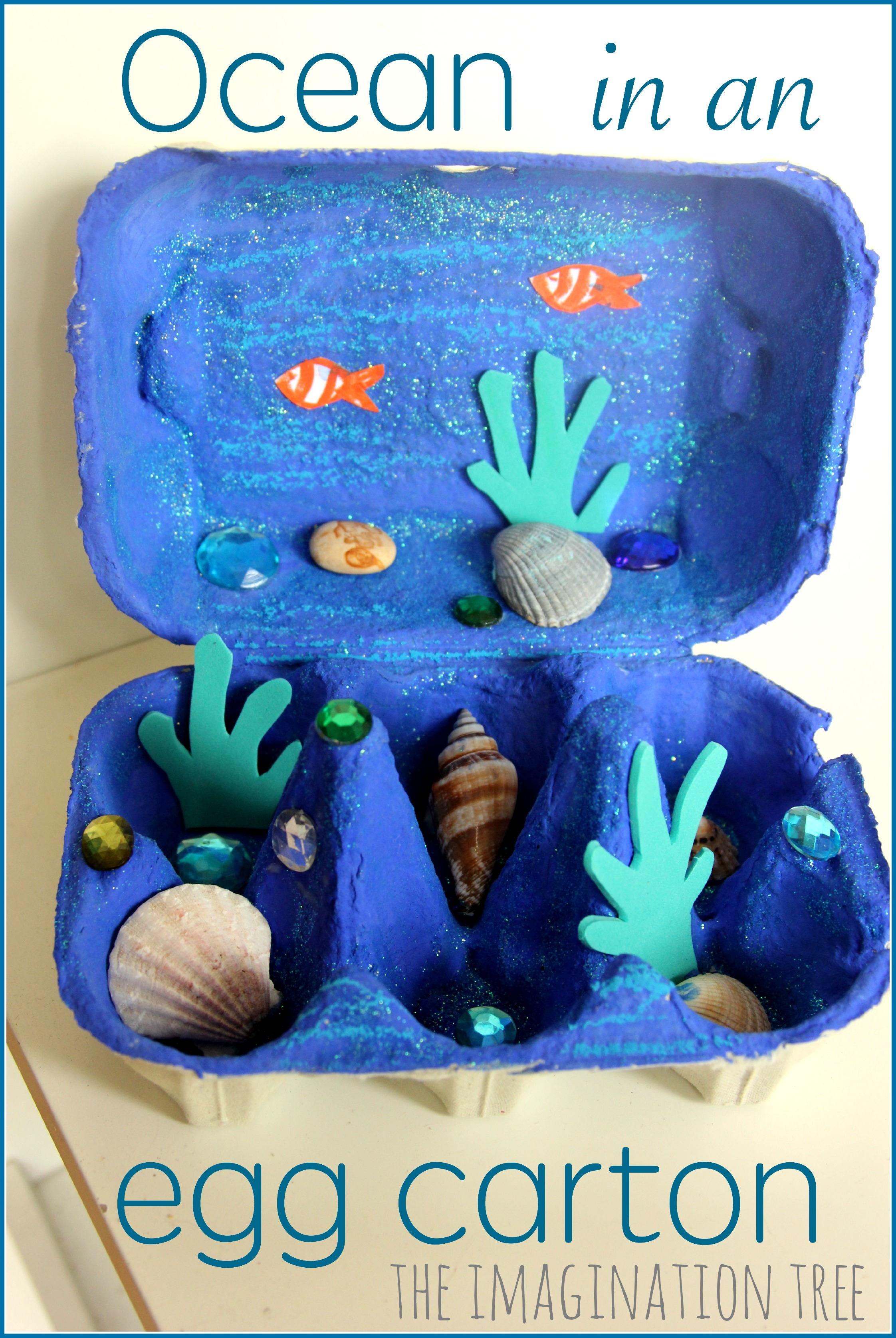 Egg carton ocean craft the imagination tree for Sea life arts and crafts