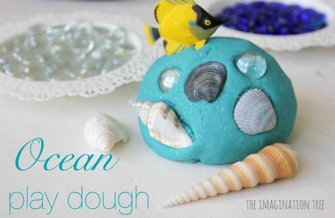 Ocean Play Dough and Loose Parts