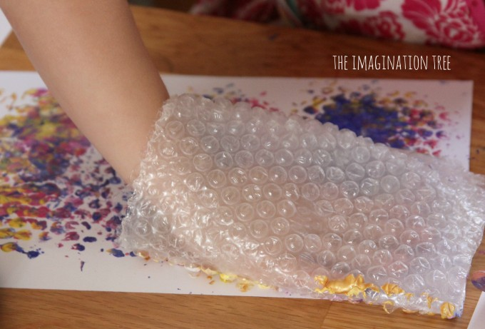 Printing with a bubble wrap mit